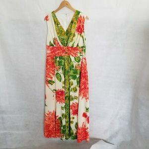 Women's 1970s Hawaiian Maxi Dress